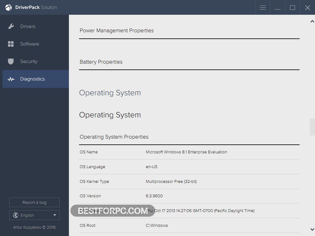 DriverPack Solution Screenshot