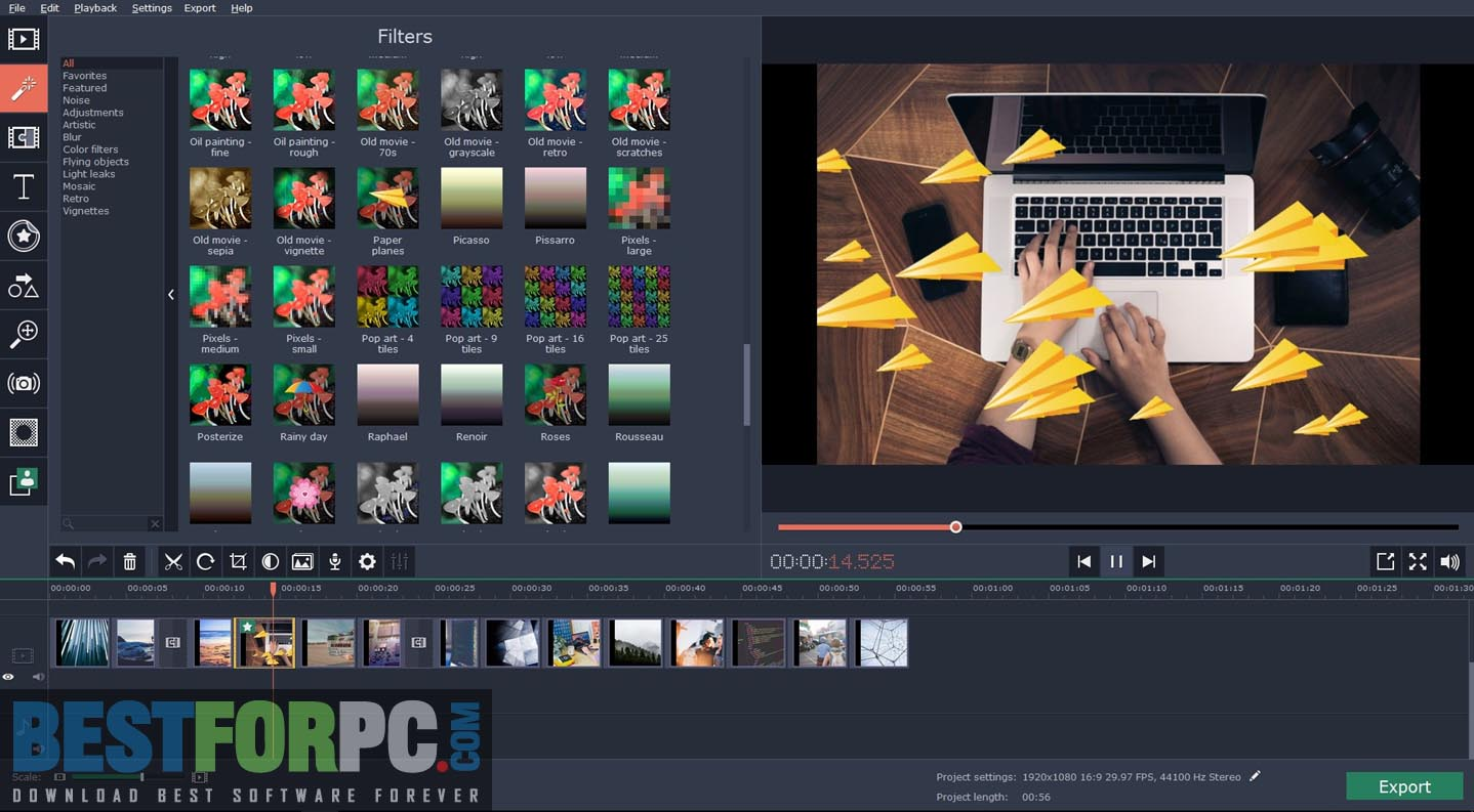 Movavi Video Editor Business Logo Screenshot Box png