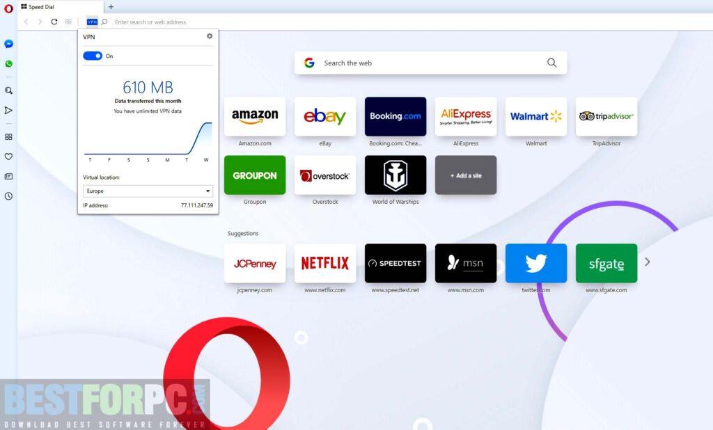 Opera Browser Screenshot
